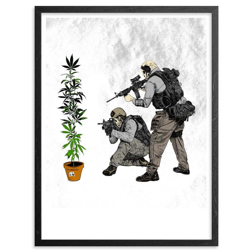 Abcnt Art - War On Drugs - Framed