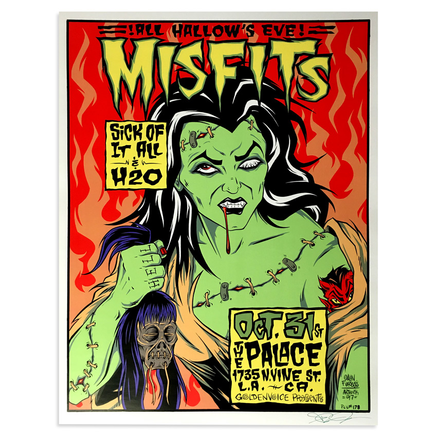 Alan Forbes Art - Misfits - Oct. 31st, 1997 at The Palace Los Angeles