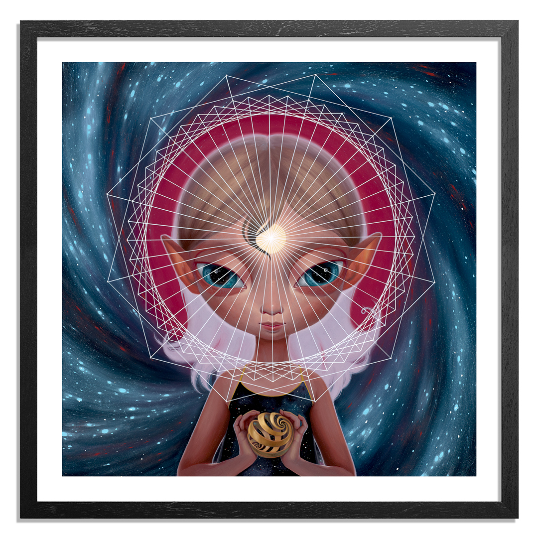Ana Bagayan Art Print - Message From Inner Earth - Hand-Embellished Edition