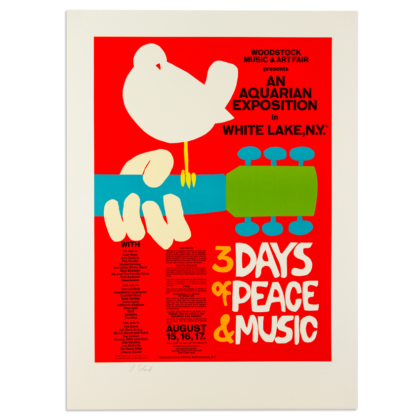 Arnold Skolnick Art - Woodstock - 3 Days Of Peace & Music