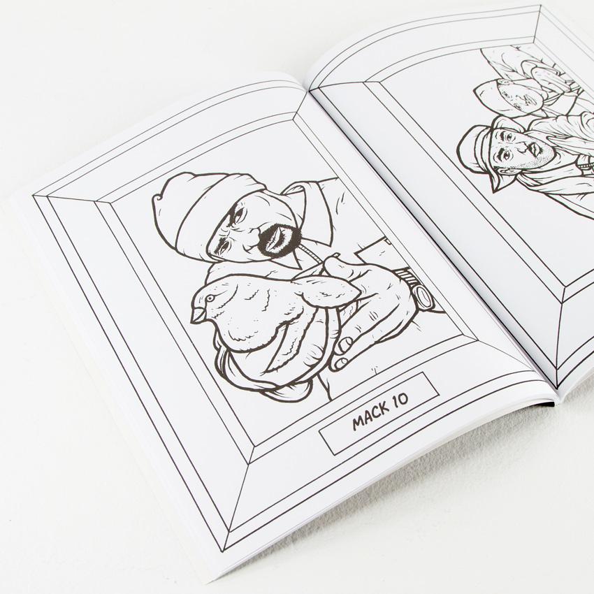Aye Jay Book - Gangsta Rap Coloring Book | 1xRUN