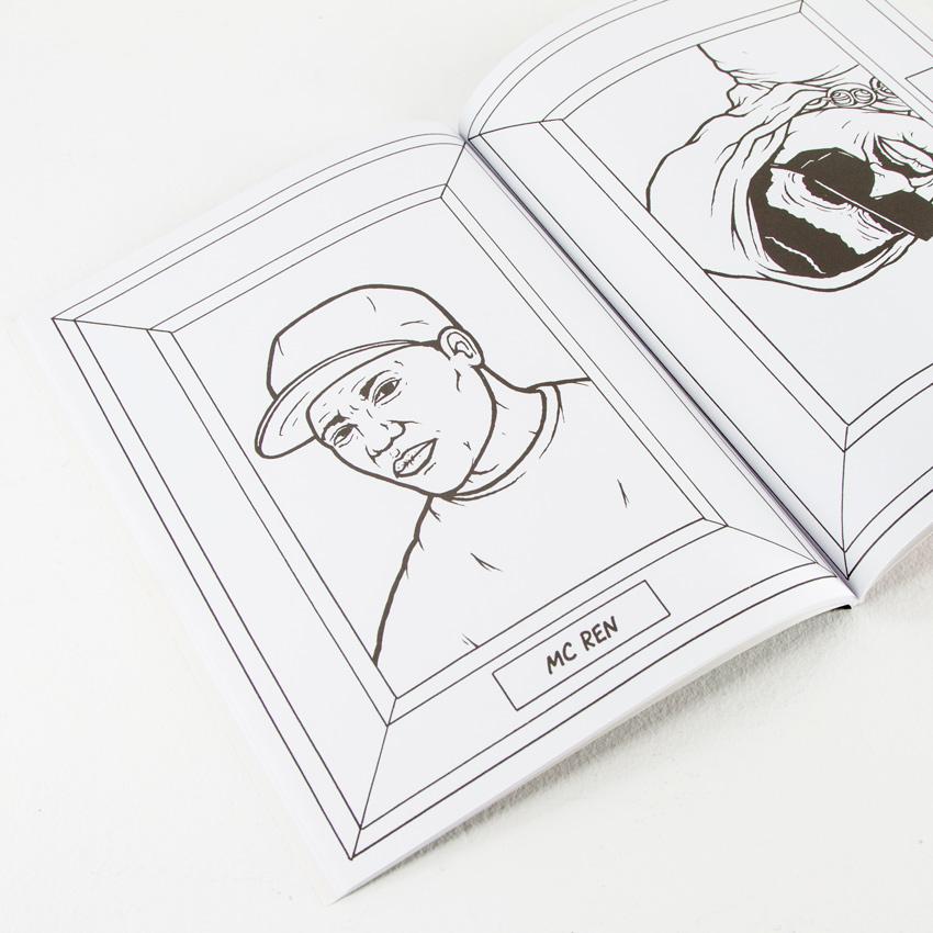 - Aye Jay Book - Gangsta Rap Coloring Book 1xRUN
