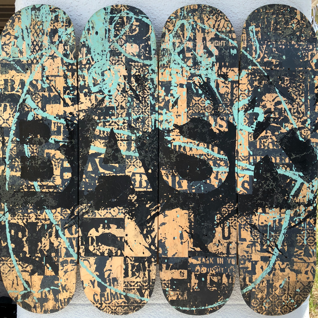 Bask Original Art - Bask Board-slide - Hand-Painted Multiples