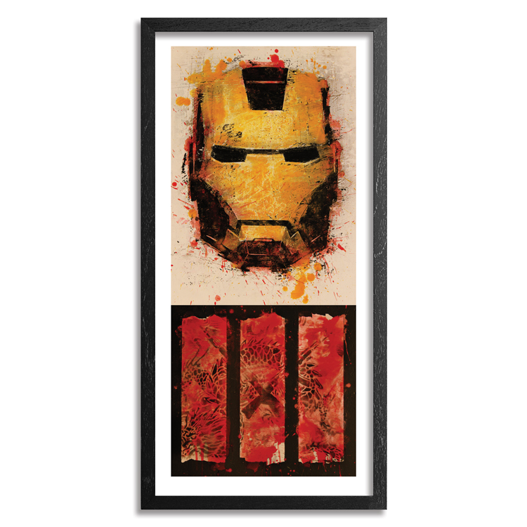 Bask Art - Iron Man 3 - Hand-Embellished Box Office Edition - Framed