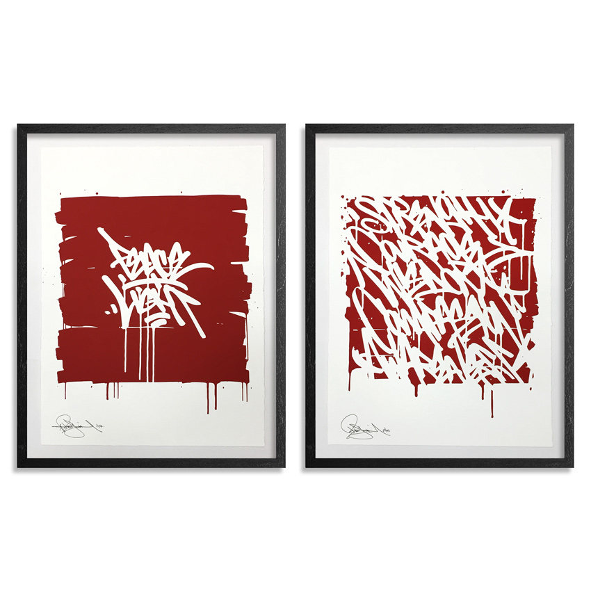 Bisco Smith Art Print - Peace And Light + Warriors Words - 2-Print Set