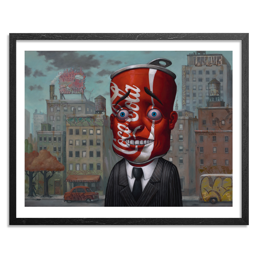 Bob Dob Art Print - Coke Head - Hand-Embellished Edition