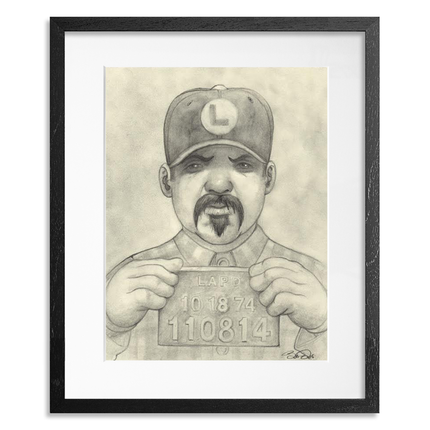 Bob Dob Original Art - Mug Shot Luigi