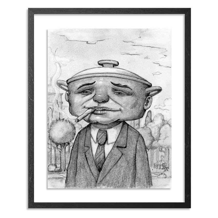 Bob Dob Original Art - Pot Head - Original Sketch