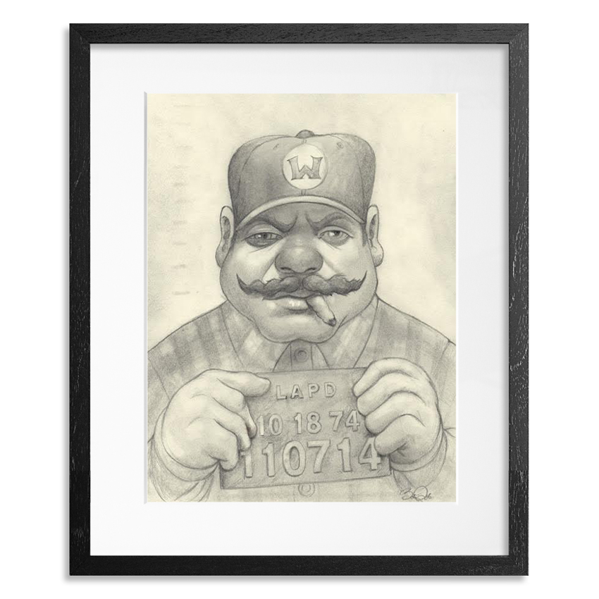 Bob Dob Original Art - Mug Shot Wario