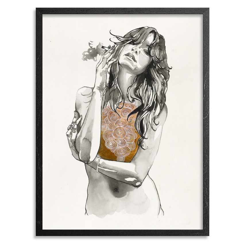 Brandon Boyd Art Print - Heart Of Gold - Limited Edition Prints
