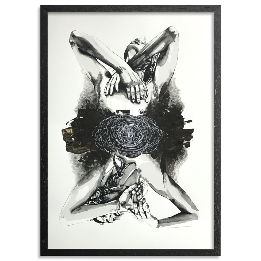 Brandon Boyd Hand-painted Multiple - Lauren In Transit - Hand-Painted Multiple 10