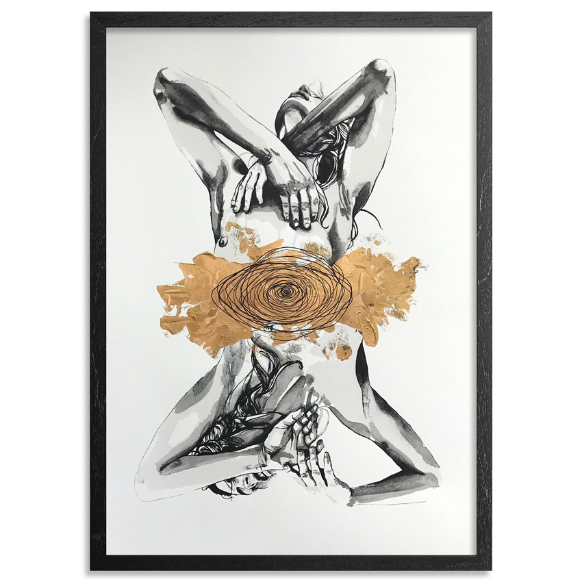 Brandon Boyd Hand-painted Multiple - Lauren In Transit - Hand-Painted Multiple 01