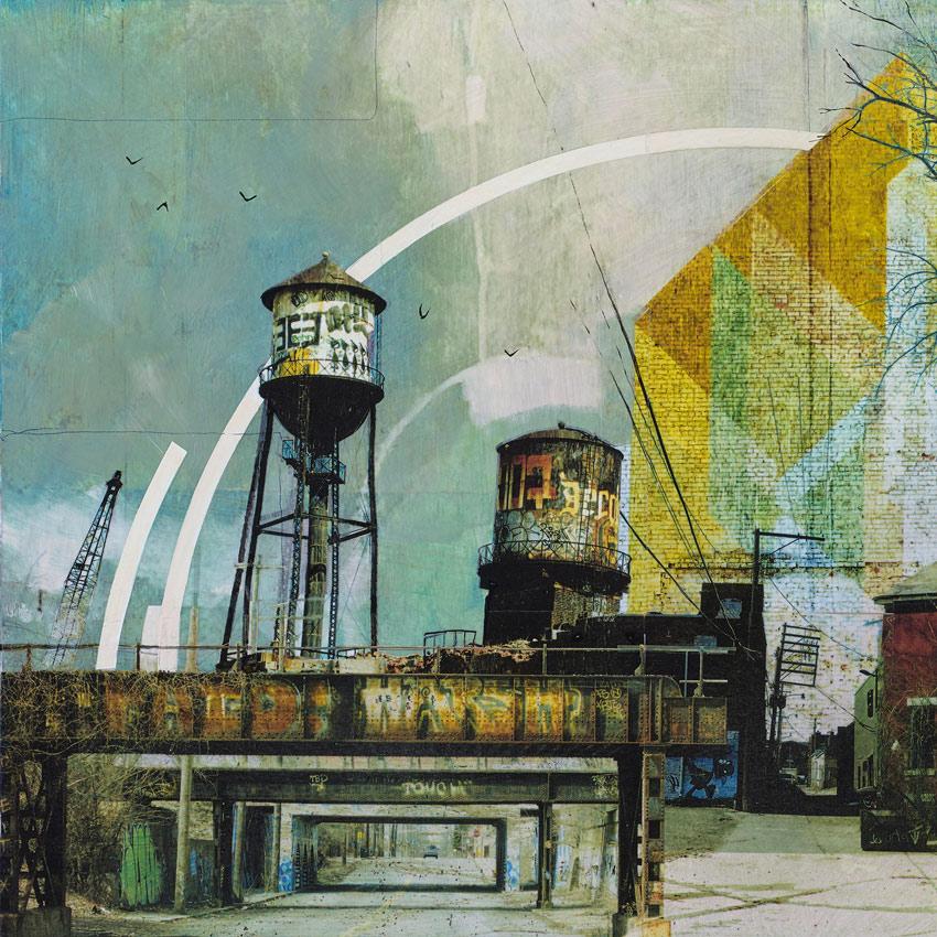 Liz Brizzi Original Art - Motor City Odds And Ends | 1xRUN