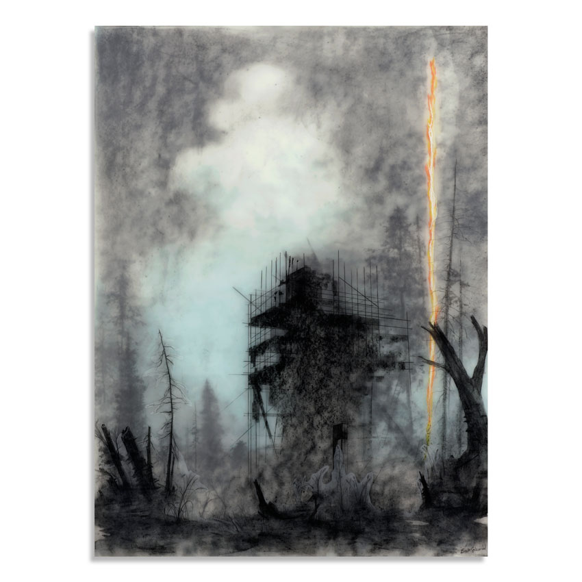 Brook Salzwedel Original Art - Catastrophe #2 (With Fire Flare)