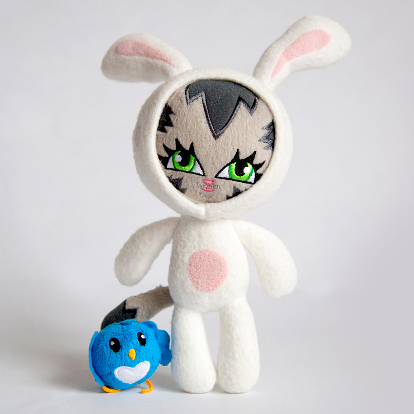 Persue Art - The Origins of Bunny Kitty - Plush Toy