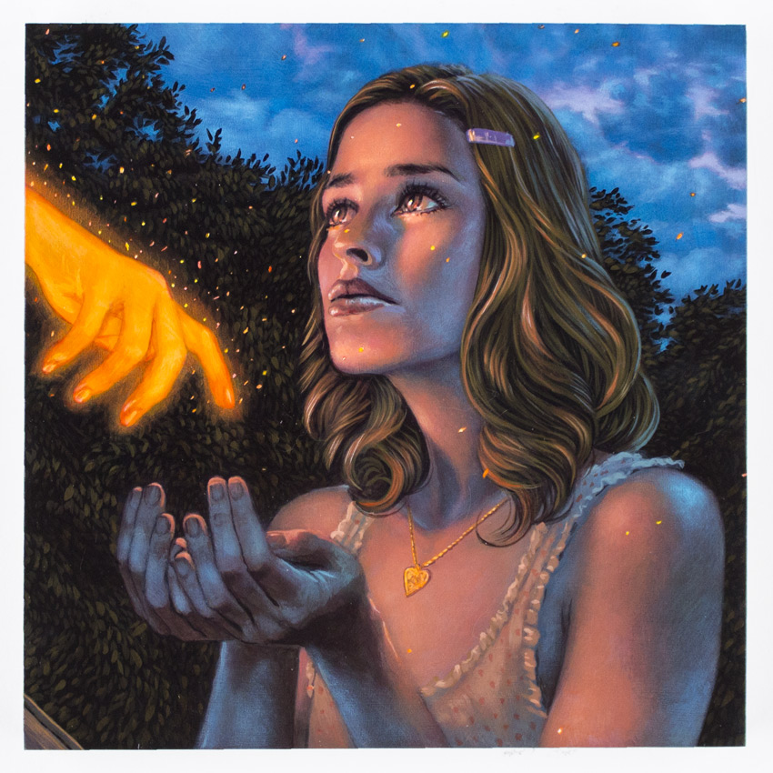 Casey Weldon Original Art - Time's No Matter, I'm On Fire