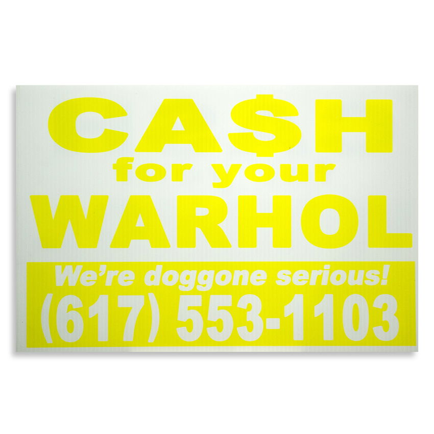 Cash For Your Warhol Hand-painted Multiple - We're Doggone Serious 03 - 12x18 Inch