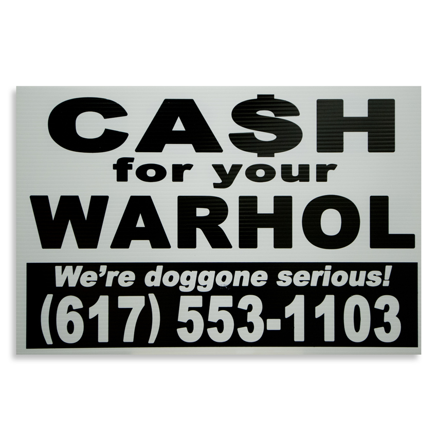 Cash For Your Warhol Hand-painted Multiple - We're Doggone Serious 04 - 12x18 Inch