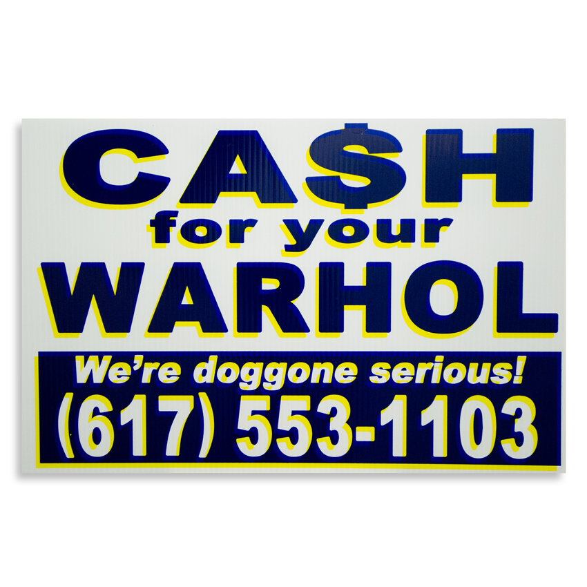 Cash For Your Warhol Hand-painted Multiple - We're Doggone Serious 14 - 12x18 Inch