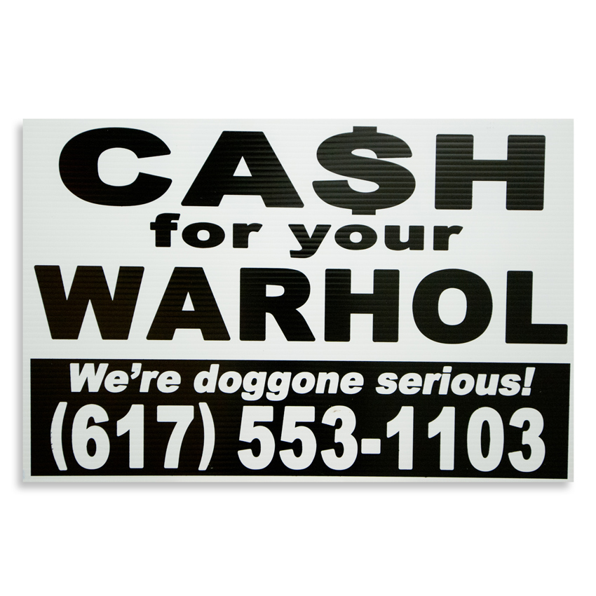 Cash For Your Warhol Hand-painted Multiple - We're Doggone Serious 15 - 12x18 Inch