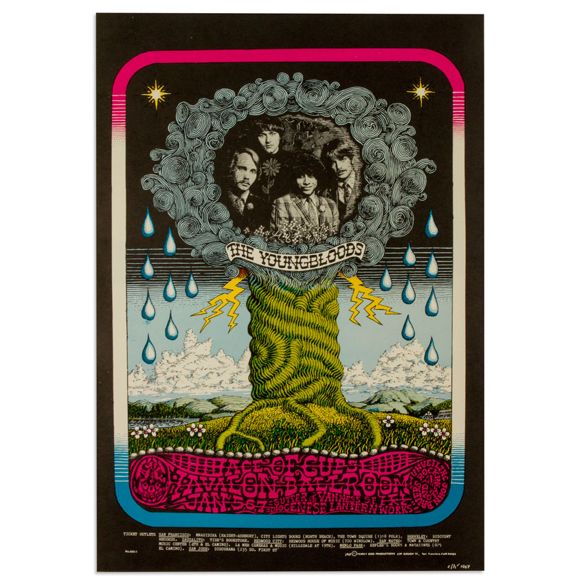 Charles Laurens Heald Art - The Youngbloods at Avalon Ballroom - January 1967