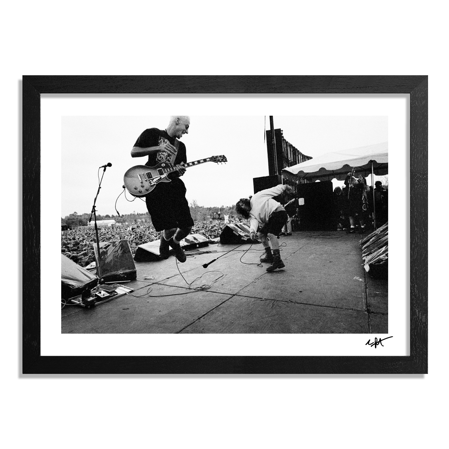 Charles Peterson Art Print - Stone Gossard & Eddie Vedder, Pearl Jam, A Drop In The Park, Magnuson Park, Seattle, 9/20/92