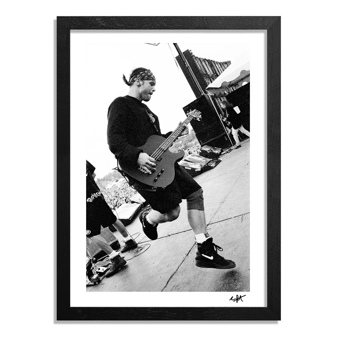 Charles Peterson Art Print - Jeff Ament & Mike McCready, Pearl Jam, A Drop In The Park, Magnuson Park, Seattle, 9/20/92