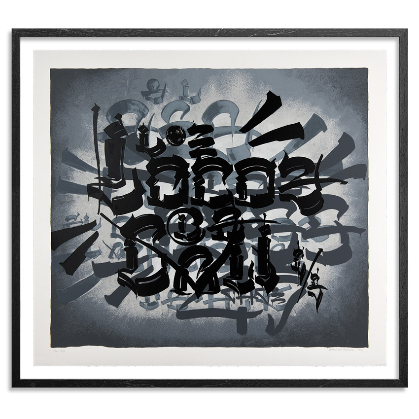 Chaz Bojorquez Art Print - Tres Placas (Three Tags) - 2011