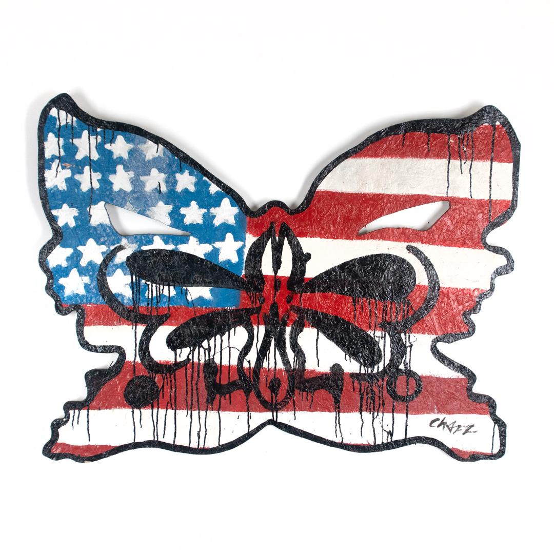 Chazz Original Art - Red White Blue Black
