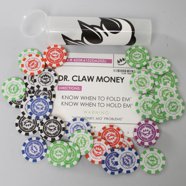 Claw Money Art - Poker Chip Set