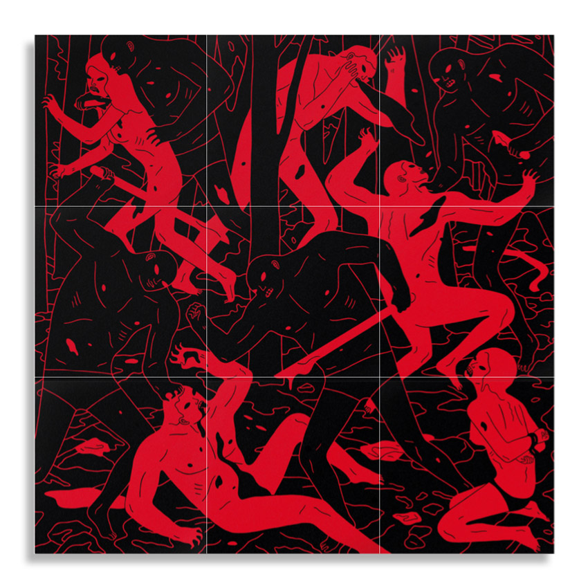 Cleon Peterson Art Print - Judgment (Black/Red)