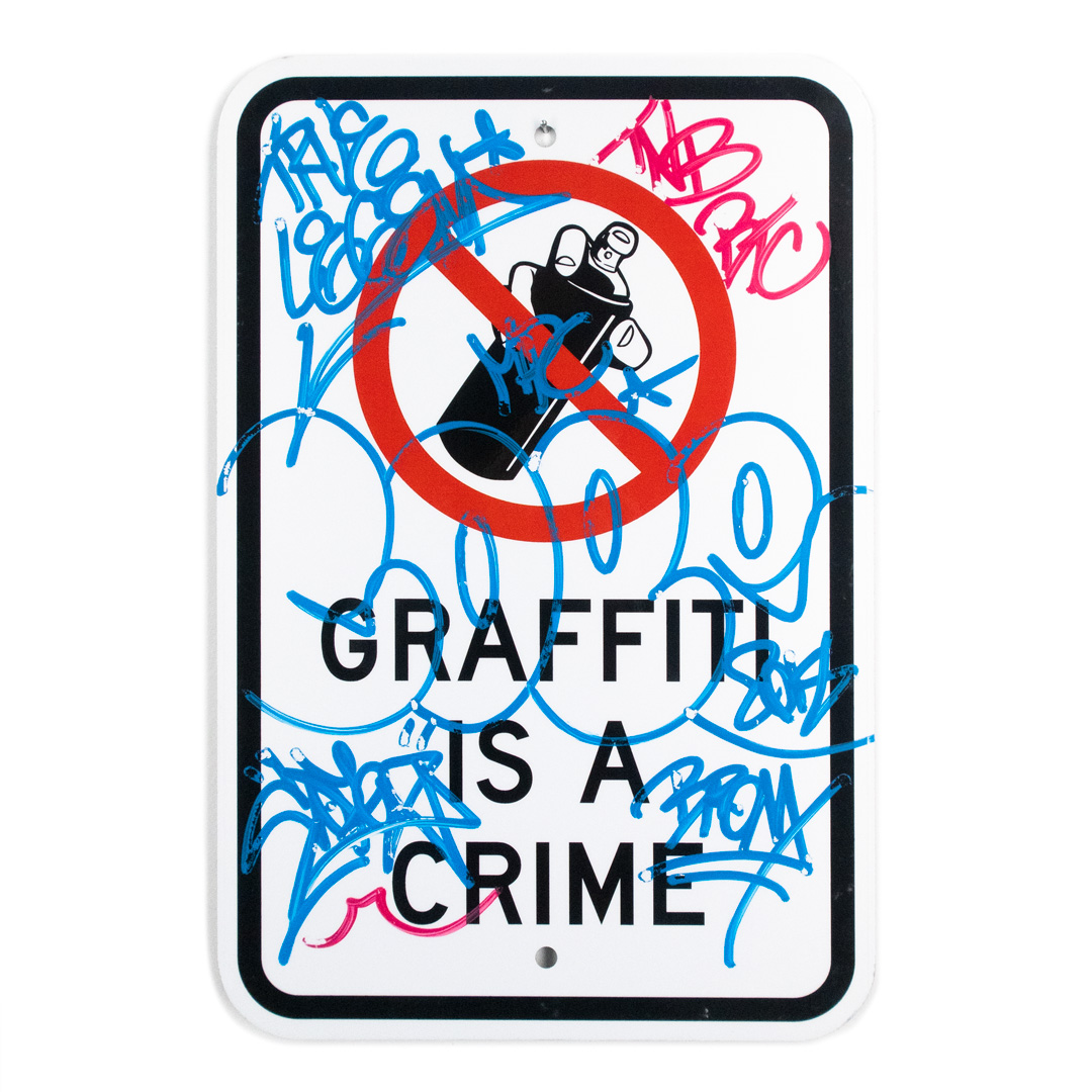 Cope2 Original Art - Graffiti Is A Crime - Variant 1 - II