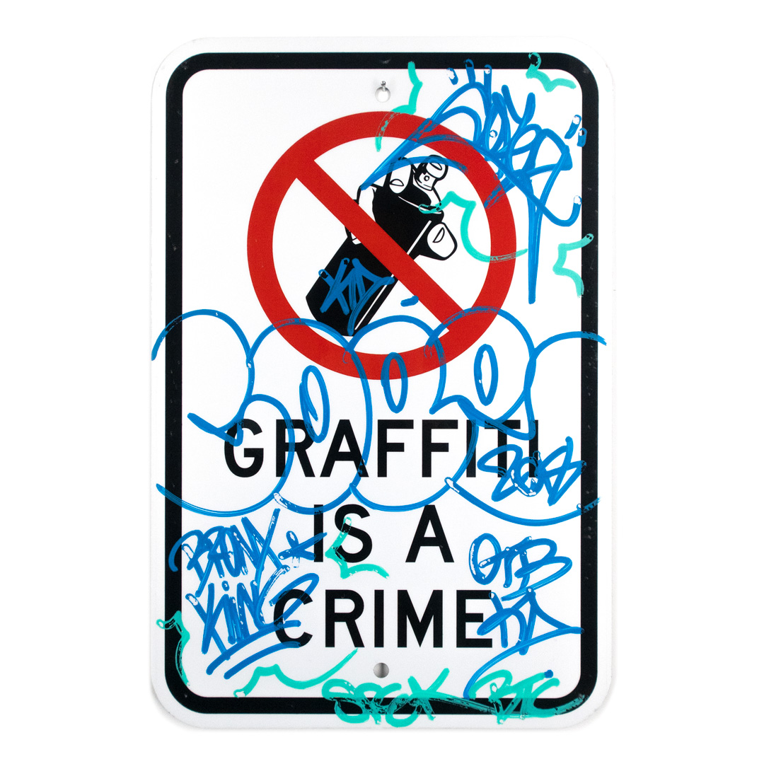 Cope2 Original Art - Graffiti Is A Crime - Variant 1 - III