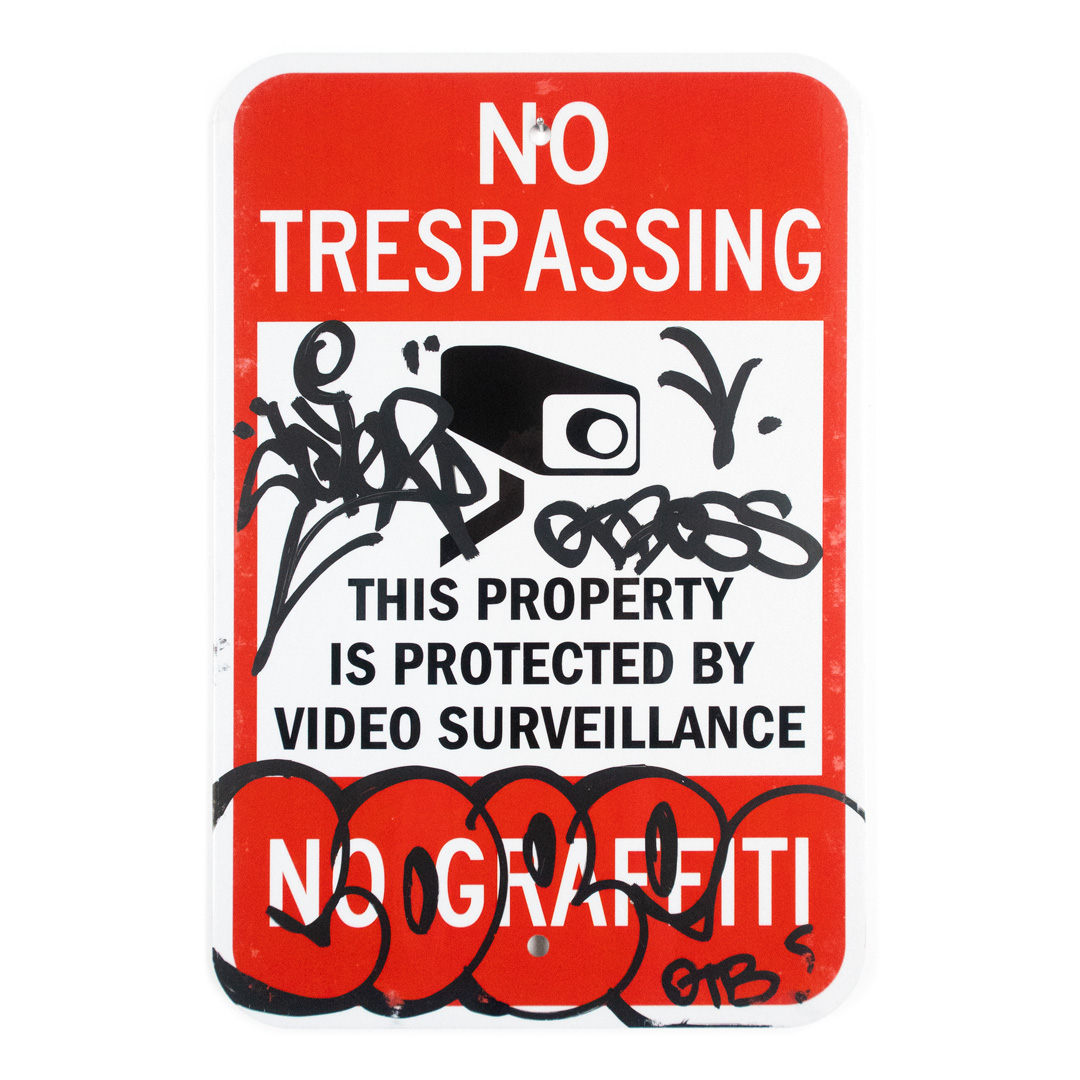 Cope2 Original Art - No Trespassing - 12 x 18 Inches - I