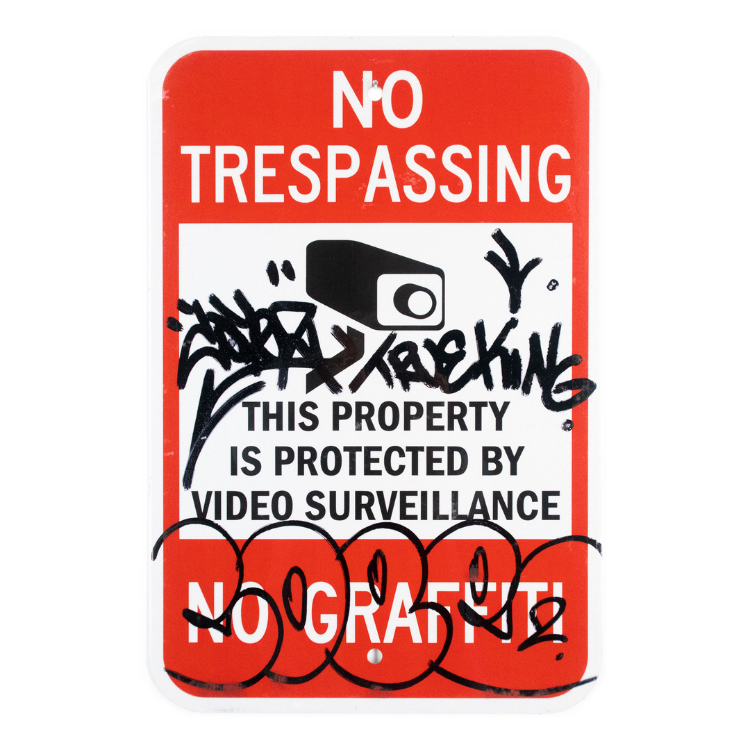 Cope2 Original Art - No Trespassing - 12 x 18 Inches - II