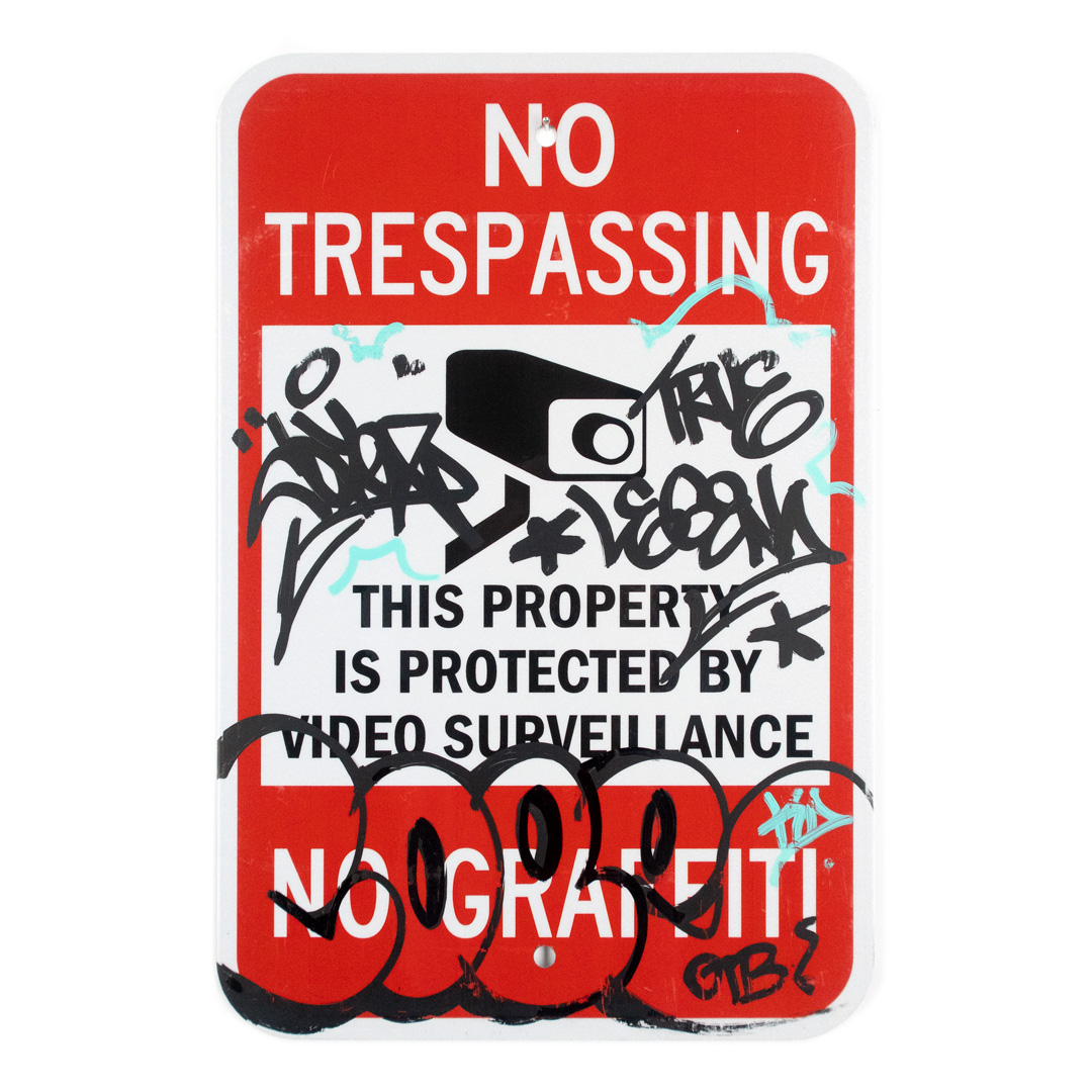 Cope2 Original Art - No Trespassing - 12 x 18 Inches - III