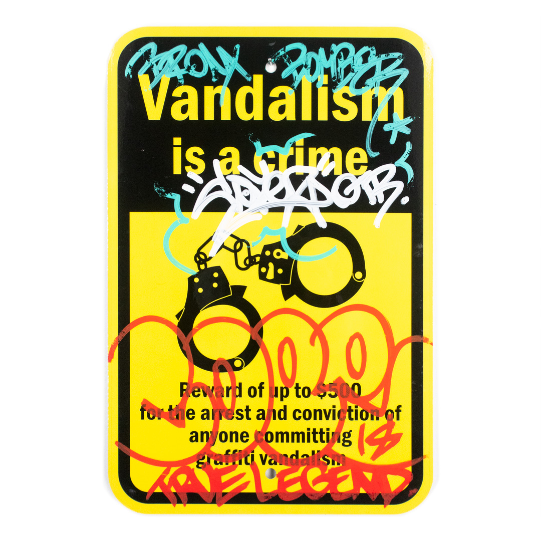 Cope2 Original Art - Vandalism Is A Crime - 12 x 18 Inches - I