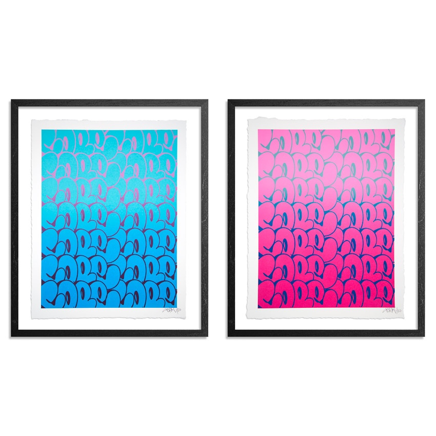 Cope2 Art Print - Stacked Bubble Throwies - 2-Print Set