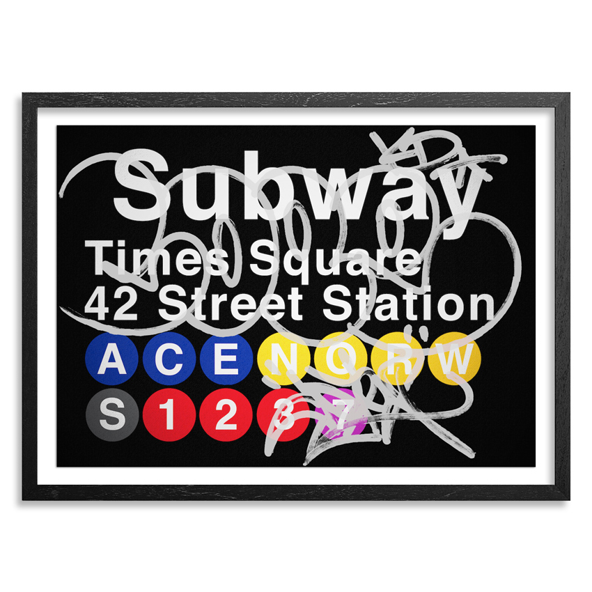 Cope2 Art Print - Silver Variant - 42 Street Station / Times Square