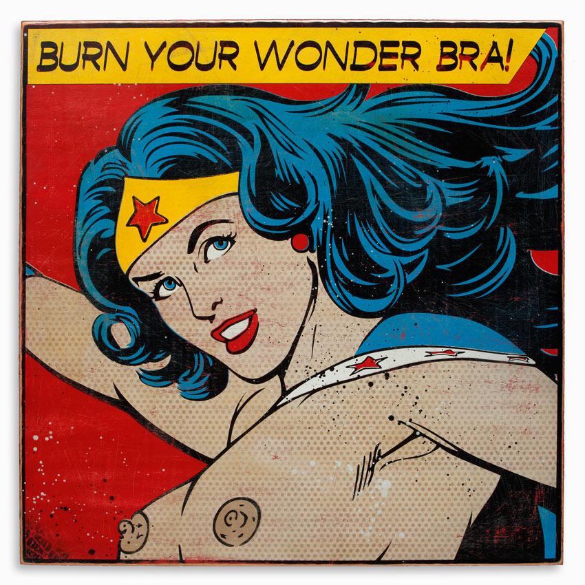 Denial Art - Burn Your Wonderbra - 24 x 24 Edition | 1xRUN
