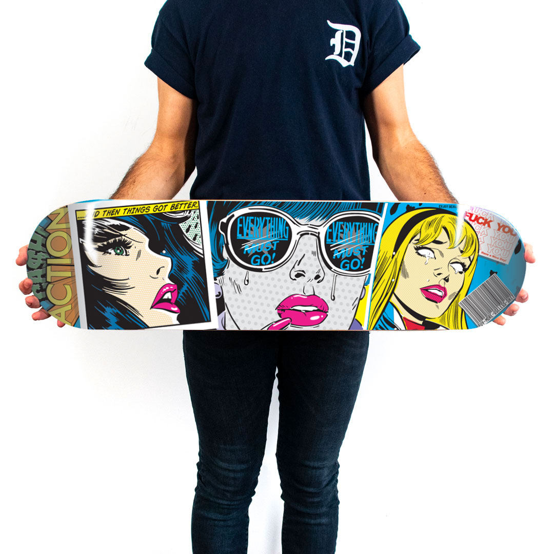 Denial Art Print - Everything Must Go Away - Skate Deck Variant