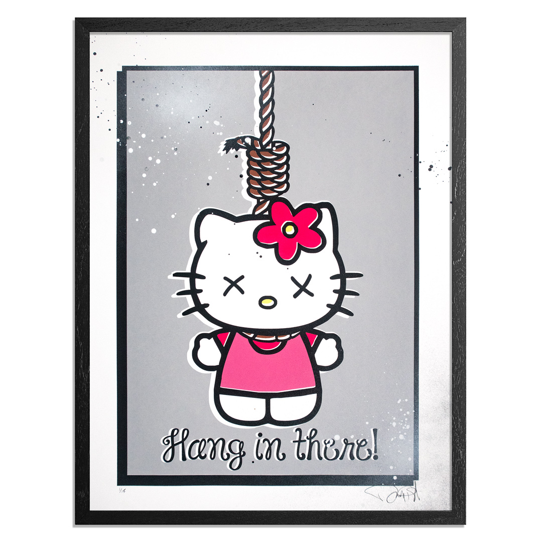 Denial Art Print - Goodbye Kitty - Hand-Embellished Edition