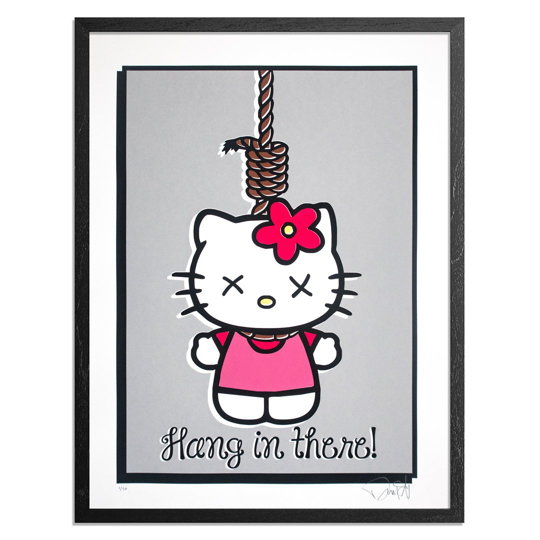 Denial Art Print - Goodbye Kitty - Standard Edition