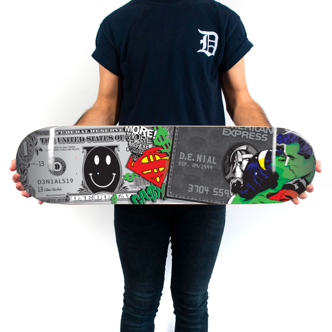 Denial Art Print - Money Matters - Skate Deck Variant