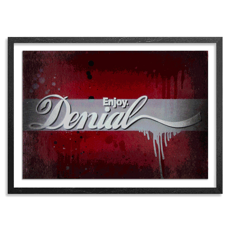 Denial Art - Enjoy Denial - Hand-Painted Multiples