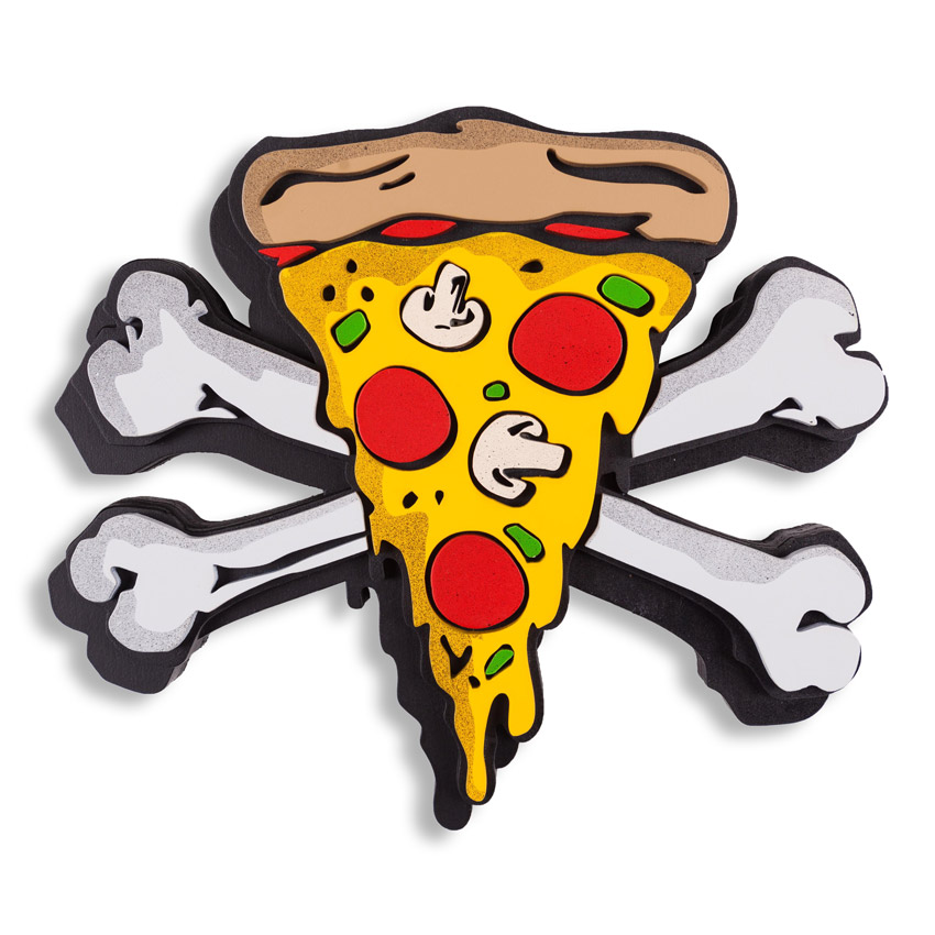 Denial Art - Pizza Party - Laser Cut Edition