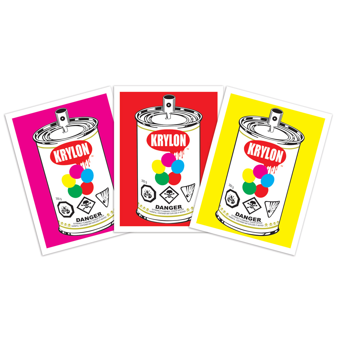 Denial Art Print - 3-Print Set - Krylon Pop Can