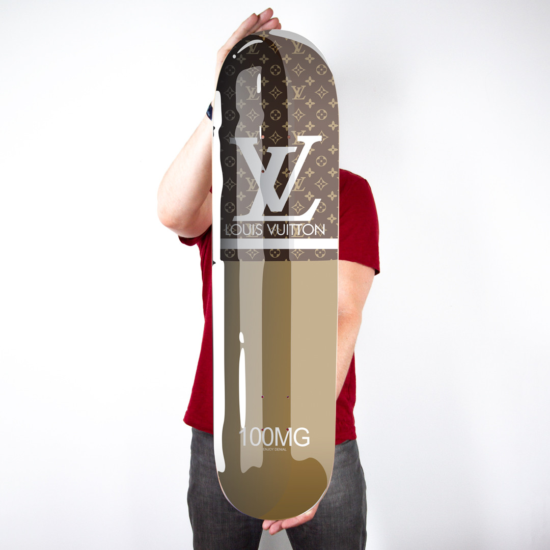 Denial Art Print - Louis Vuitton - Skate Deck Variant