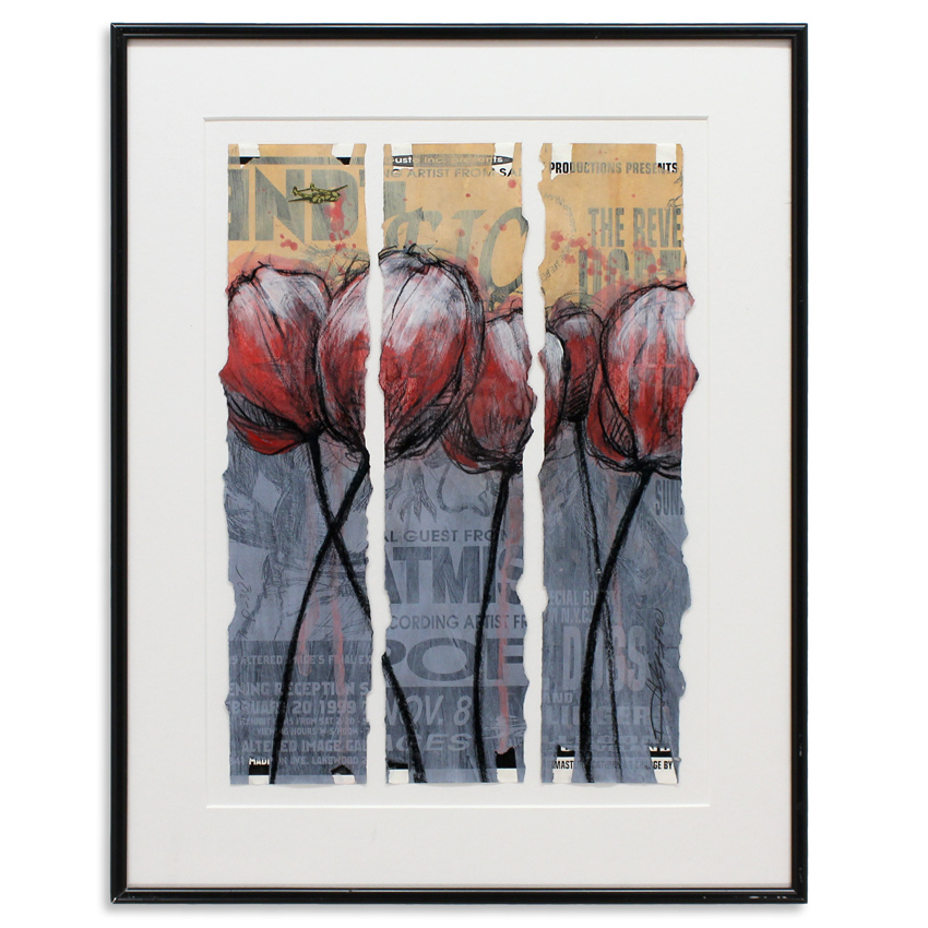 Derek Hess Original Art - 5 Tulips and a p.38