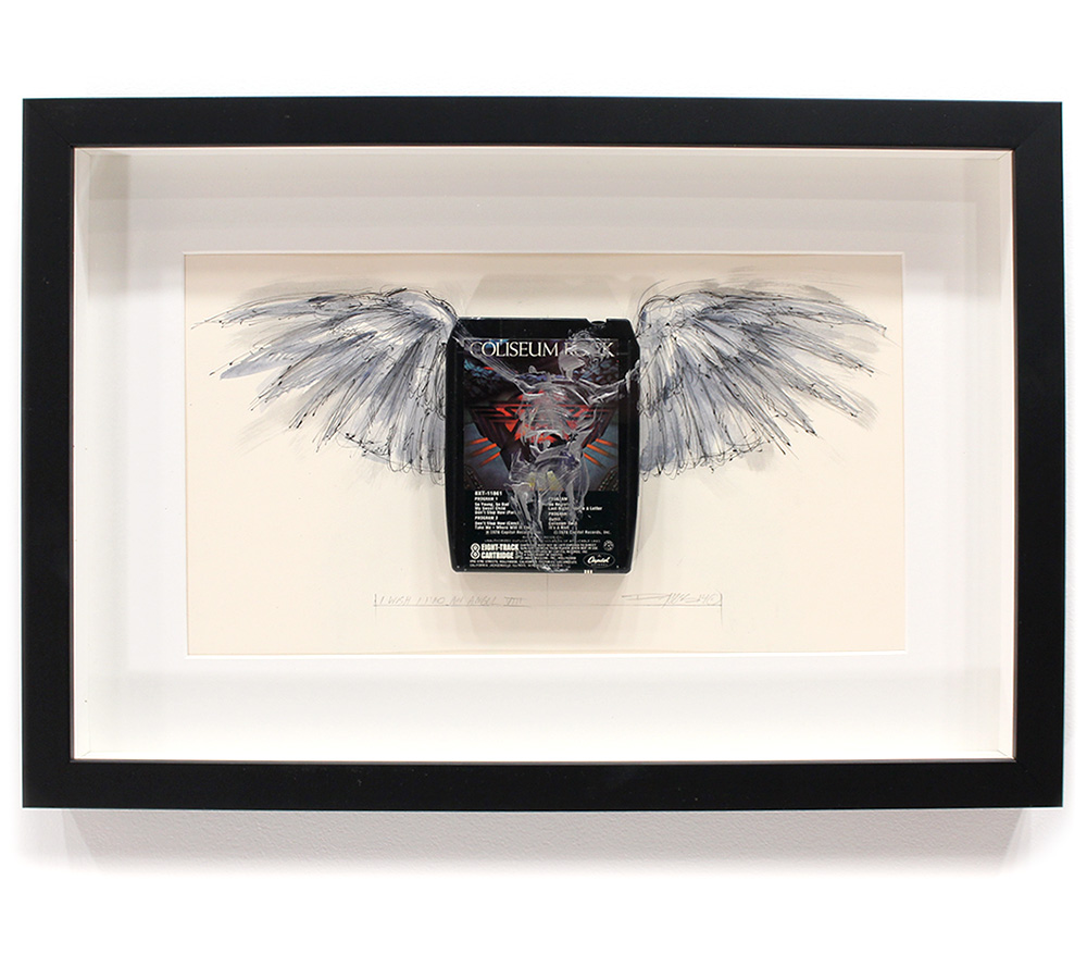 Derek Hess Original Art - I Wish I Had An Angel VIII - Starz - Coliseum Rock